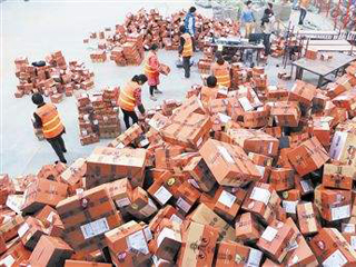 国家邮政局:春节快递日均业务量近千万件