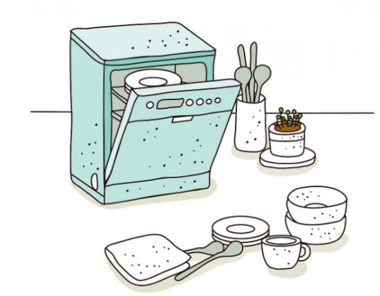 饭后洗涤餐具,把父母那辛劳多年的双手从冷水中解放出来