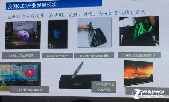 OLED面板技术领域中国企业和韩日企业有差距