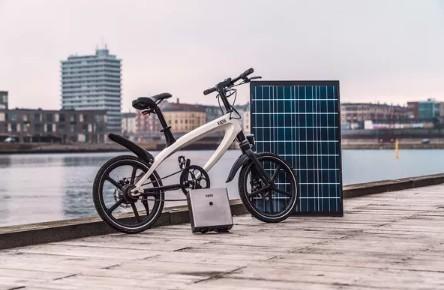 250W电动自行车竟然配备太阳能电池组