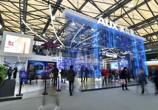 3D全景式智能工厂亮相 AWE2018奥克斯智见未来