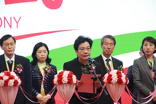 中国家用电器协会理事长姜风在AWE2018开幕式上致辞