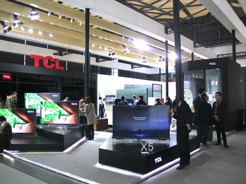 惊艳AWE2018 TCL重推X5/C6/P5三款新品电视