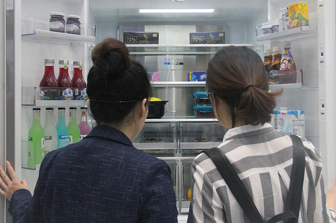 海尔冰箱展示