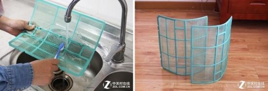 直接用清水冲洗滤网