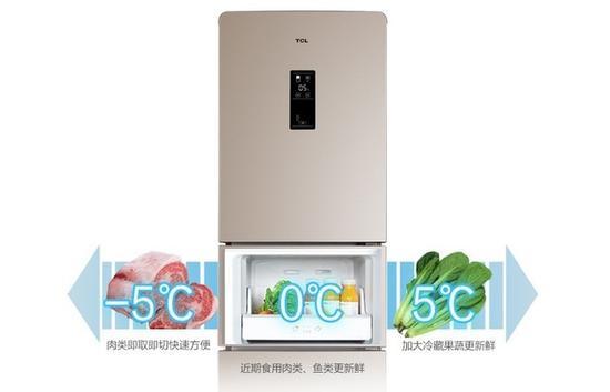 位于冰箱中部的变温室温度可调