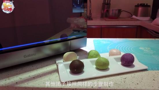 """格兰仕微蒸烤一体机全国免费教做清明美食""""七彩青团"""""""