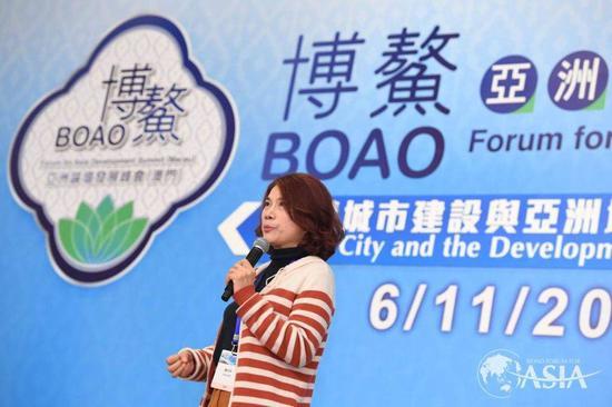 董明珠参加博鳌亚洲论坛发展峰会(澳门)分会二。图片来自博鳌亚洲论坛官网