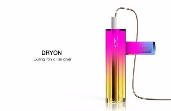 这款吹风机不光颜色鲜明,还是吹风机和卷发棒的合体