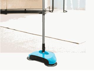 不用电的扫地机,扫地拖地一步到位!
