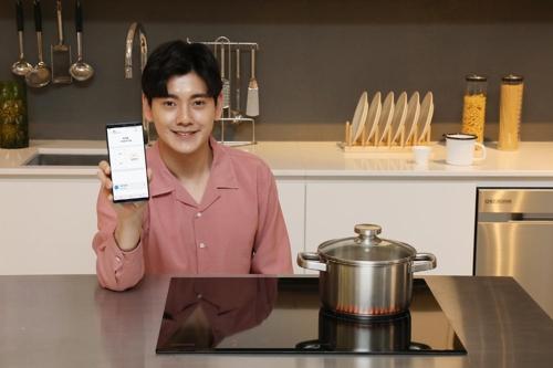 三星发布的物联网电磁灶新品(图片来自韩联社网站)