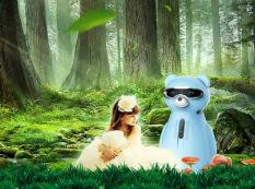 吉特熊空净机器人:在森林氧吧里听故事