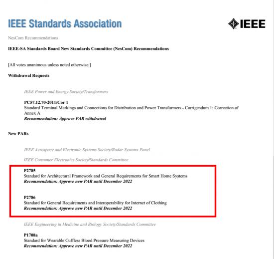 海尔主导2项智慧家庭国际标准获IEEE批准立项