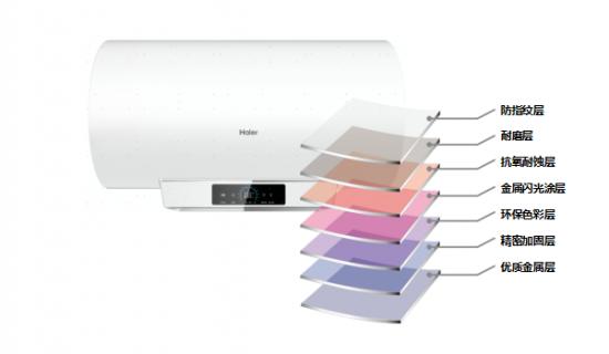 海尔电热水器JRS:白珠光银钻白外观,ECO环保彩板不含PVC