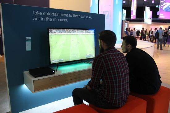 飞利浦电视IFA2018现场提供游戏试玩