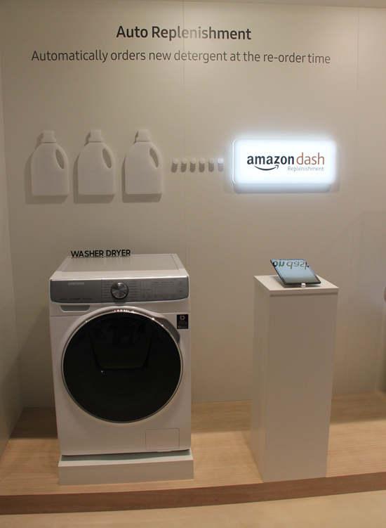 三星洗衣机与亚马逊的联结