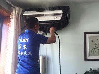 感恩教师节:海尔空调公益洗为教师洗空调