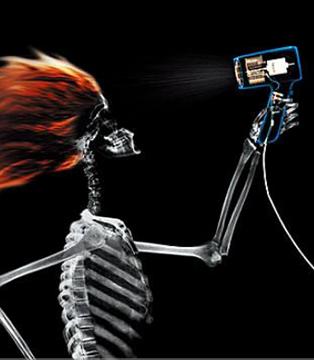 吹3次电吹风=照1次X光?