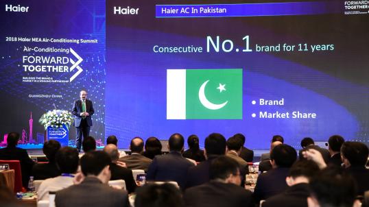 海尔空调在巴基斯坦市场份额连续11年第一