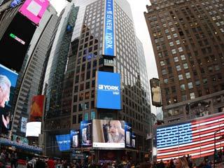 约克多联式空调闪耀纽约时代广场