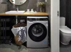把洗衣机塞进卫生间,也是不错的选择!