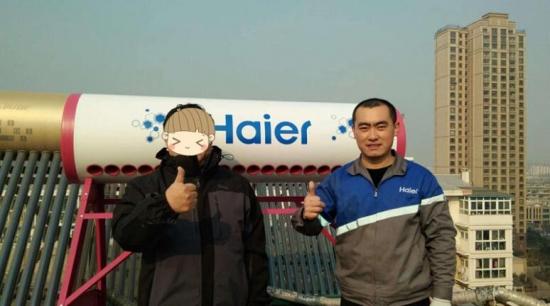 """冬季太阳能被冻坏,济南用户""""考察""""半月后换上海尔!"""