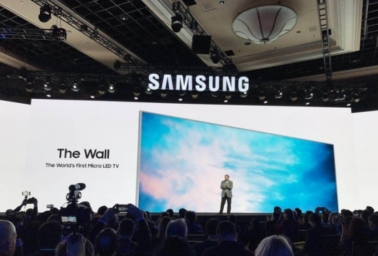 CES 2018 sumsong MicroLED THE WALL
