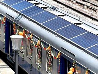 """印度的太阳能火车,表示""""赶超""""了中国!"""