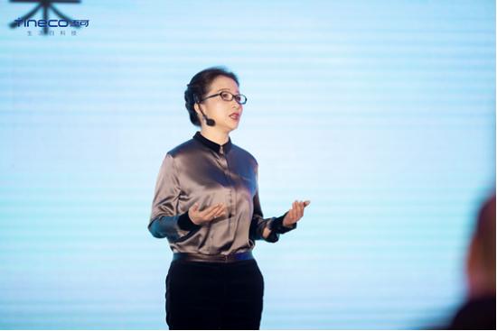 科沃斯集团总经理兼添可智能科技有限公司总经理庄建华女士致欢迎词