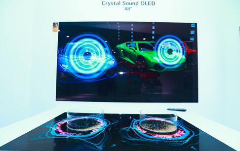 88英寸8K自发声OLED屏幕