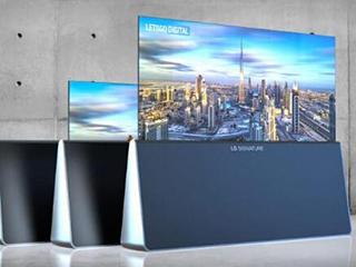 LG专利曝光三款新卷轴电视,三角形底座更有设计感