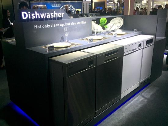 格兰仕广交会嵌入式洗碗机