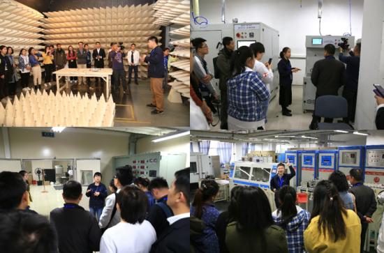 媒体参观EMC检测试验室、可靠性试验室、热水器试验室、零部件试验室