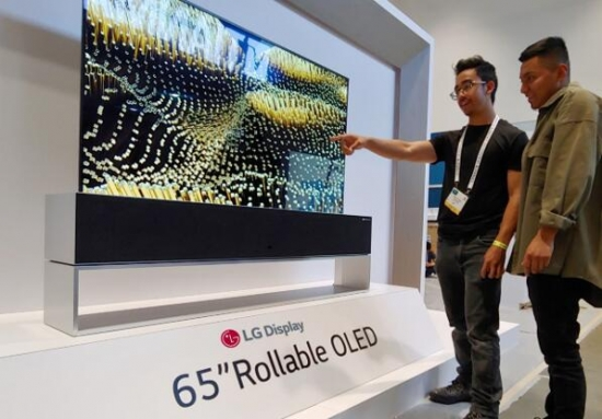 LG Display 65英寸 Rollable OLED电视产品