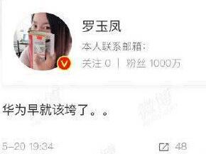罗玉凤:华为早就该垮了,苏宁手机:不卖给你