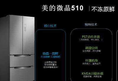 蓄势618,美的微晶510冰川银新品北京苏宁首发