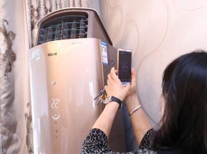 韩国家庭为红木家具一次购9台海尔新风空调
