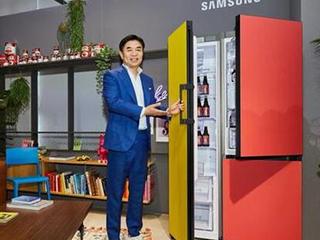三星的可定制冰箱有9种颜色和8种尺寸