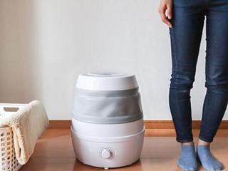 洗衣机可以有多小?折一下就能塞进柜子里的那种