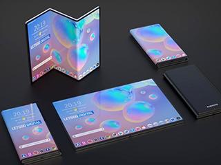 三星Z字形折叠手机专利曝光 屏幕可均分成三部分