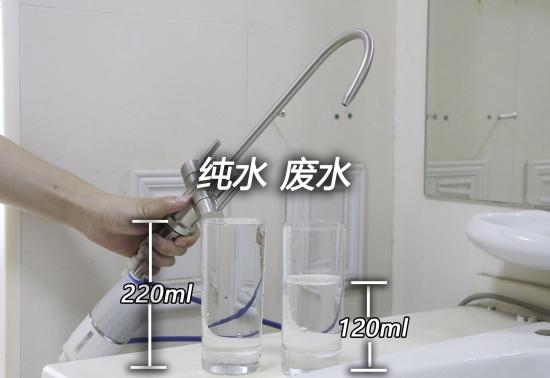 纯费水比测试图