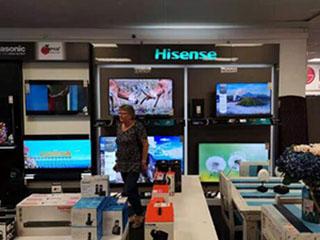 海信电视南非市场份额突破30%为第二、三名之和