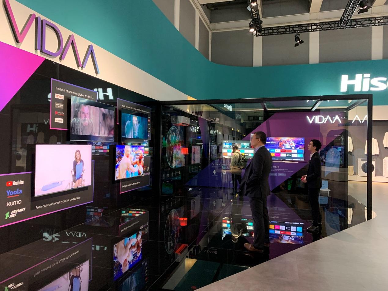 海信VIDAA AI 全球內容運營平臺亮相2019德國IFA