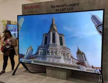 夏普携全球最大120英寸8K电视强势登陆IFA2019