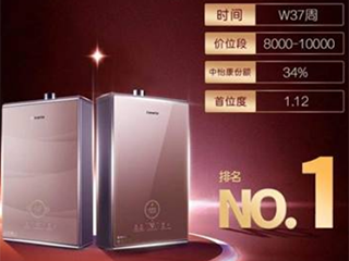 中怡康:海尔燃气热水器销量第一