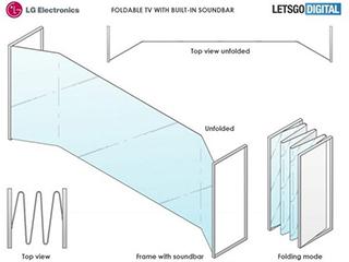 LG可折叠电视专利图曝光 超宽屏幕/或明年正式推出