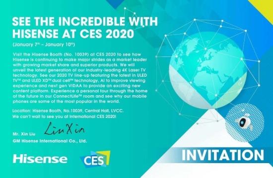 """传海信将在CES 2020推出""""完全不一样""""的激光电视"""