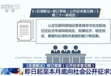 """《反垄断法》首次""""大修""""公开征求意见1月31日截止"""