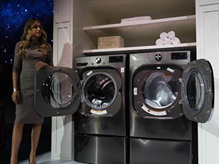 CES 2020:LG带来ThinQ智能洗衣机、干衣机