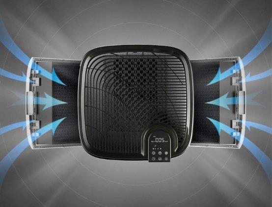 AI时代解放双手 海尔空气净化器KJ800F-EAA净化大空间更智能